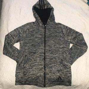 Adidas Soft Knit Grey & Black Hoodie, M